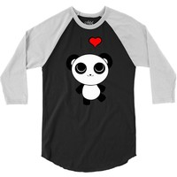 i love panda 3/4 Sleeve Shirt