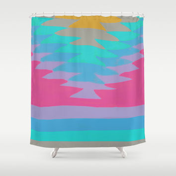SURF GIRL 16 Shower Curtain by Nika