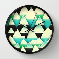 Ice Mountains Wall Clock by Amelia Senville