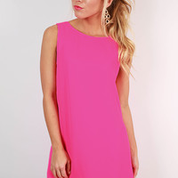 Trip to Italy Dress in Hot Pink