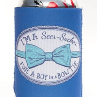 Lauren James Seersucker For A Boy Koozie