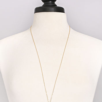 natural stone bar pendant necklace - white