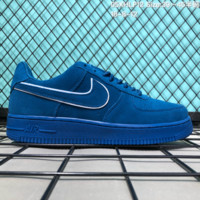 DCCK2 N275 Nike Air Force 1 LV8 Suede Skate Shoes Blue