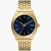 Nixon The Time Teller Watch Gold/Blue One Size For Men 25567662101