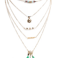 Beaded & Beaming Layered Necklace   Wet Seal