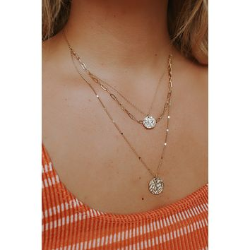 Coming Around Necklace - Gold