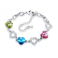 Triple Hearts Shape Bracelet with SWAROVSKI ELEMENTS Design