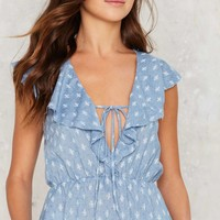 Given to Fly Chambray Top
