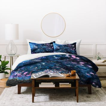 Lisa Argyropoulos Geode Abstract Teal Duvet Cover