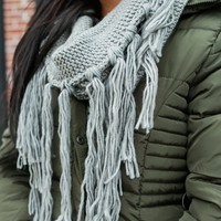 Cooler Days Ahead Infinity Scarf - Grey