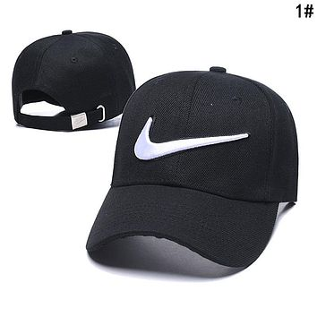 NIKE Popular Women Men Embroidery Sports Sun Hat Baseball Cap Hat 1#