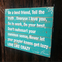 Your Own Custom Quote on Reclaimed Wood Pallet Sign 22x17