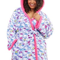 ModCloth Kawaii Long Sleeve Kitty as a Picture Robe in Plus