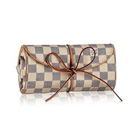 Louis Vuitton Damier Canvas Foldable Jewellery Pouch N41421 Made in France