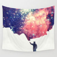Painting the universe Wall Tapestry by Badbugs_art