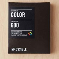 Impossible Color Shade Polaroid 600 Instant Film- Black Multi One