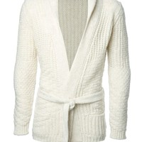 Nuur chunky belted cardigan