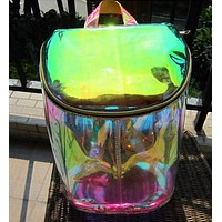 Holographic Transparent Backpack