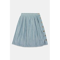 Lilou Light Blue Milam Skirt