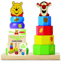 Disney Baby Winnie the Pooh and Tigger Wooden Stacker