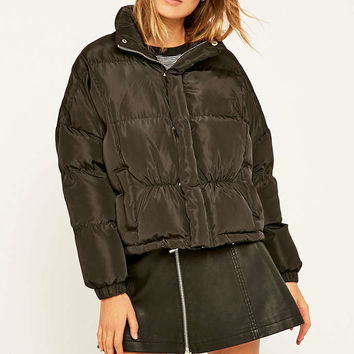 UNIF Certa Quilted Black Jacket - Urban Outfitters