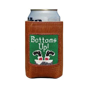 Bottoms Up Needlepoint Can Cooler by Smathers & Branson