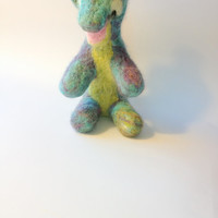 Felted Wallaby Toy for kids and toddlers.