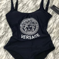 Versace Swimsuits Swimwear One Piece Bikini Black