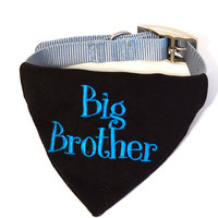 Personalized Dog Bandana-Pregnancy Announcement-Baby Announcement-Completely Customized Big Brother Dog Bandana-Big Brother Announcement