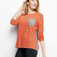 Stripe Mix Pima Tee from Hanna Andersson