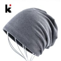 2018 Beanies hat pocket spring and autumn turban cap hip-hop cap turban beanie hats for women and man