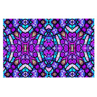 "Art Love Passion ""Kaleidoscope Dream Continued"" Purple Pink Decorative Door Mat"