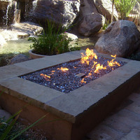 """Do-It-Yourself Ready-to-Finish 72"""" Rectangle Fire Pit Kit"""