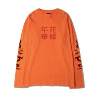 IN THE MOOD FOR LOVE LONG SLEEVE T-SHIRT ORANGE - MJN ORIGINALS
