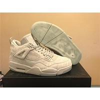 KAWS x Air Jordan 4 Rice white Basketball Shoes 40-47