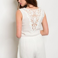 S9-15-3-RP1425 OFF WHITE LACE ROMPER 3-2-1