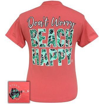 Bjaxx Lilly Paige Don't Worry Beach Happy Girlie Bright T Shirt