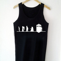 Custom Tank top tardis dr who Funny Shirt  for Tank top Mens and Tank top Girl Size S-XXL by JumatanBro