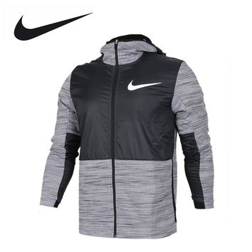 NIKE Original New Arrival Authentic THERMA Men's Windproof Jacket Hooded Sportswear 857045-010 857045-657