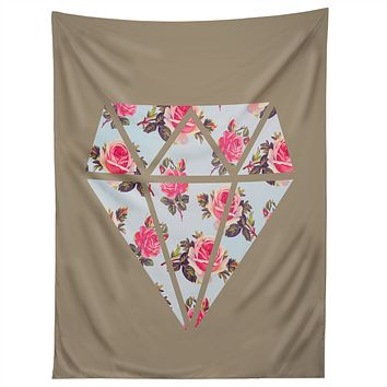 Allyson Johnson Floral Diamond Tapestry