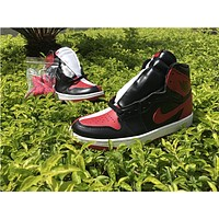 OFF-WHITE x Air Jordan 1 black red white Basketball Shoes 36-47