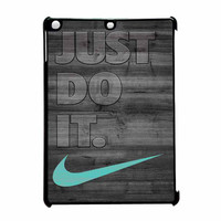 Nike Mint Just Do It Wooden Gray iPad Air Case