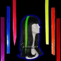 """MPSUF156 - Manic Panic Glam Strips - Blacklight Reactive 18"""" Hair Extensions"""