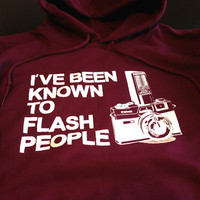 Photography hoodie Known to flash people Retro by IceCreamTees