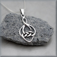 Celtic Love Knot Necklace Irish Jewelry Heart Sterling Silver (SN773)