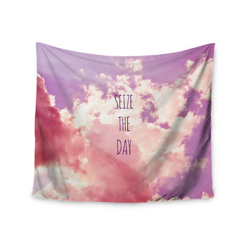 """Iris Lehnhardt """"Seize the Day"""" Pink Purple Wall Tapestry"""