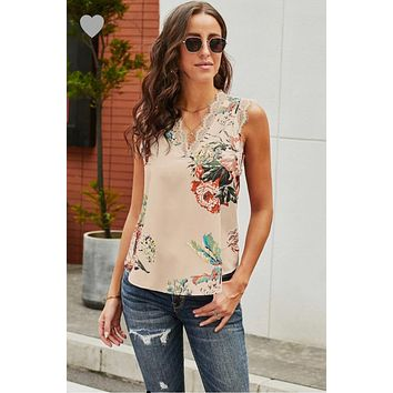 Pre Order: Lace Printed Tank