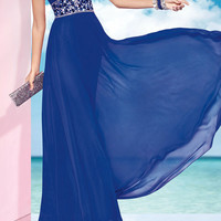 99USD Promotion!! Free Shipping! Sexy backless,Fashion Hand Weave Beading Formal Long Prom Dress, Royal Blue, Evening dress , party dress