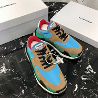 Balenciaga 18FW Blue Triple-S Dad Torre Sneakers Trainers Running Shoes