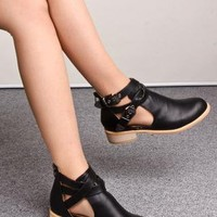 Buckle Cut Out Boots  from 2NDAPRIL